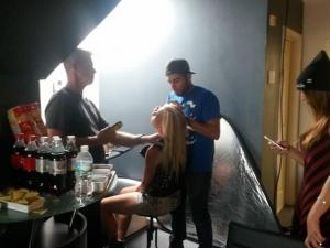 Think Global Media Inc; Nathan Taupez Hair Stylist & Make-up Team