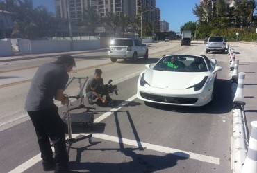 Reality TV Show Ferrari Set Fort Lauderdale